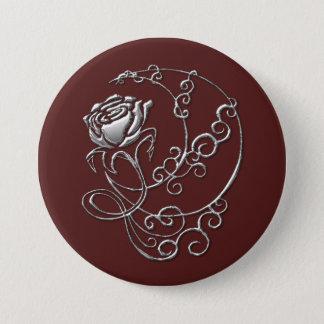 Scarlet-Rosen-Knopf Runder Button 7,6 Cm