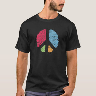 Schablonen-Frieden T-Shirt