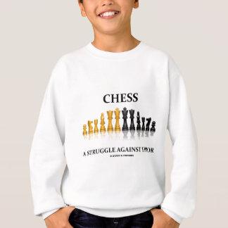 Schach ein Kampf gegen Fehler (reflektierendes Sweatshirt