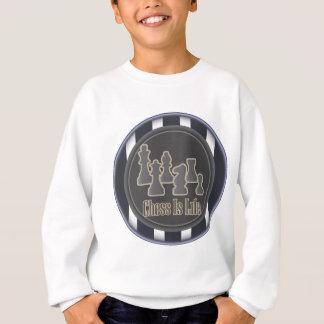 Schach ist Leben-Blau Sweatshirt