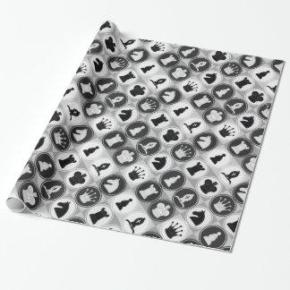 Schach-Muster Geschenkpapier