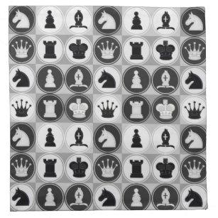 Schach-Muster Stoffserviette