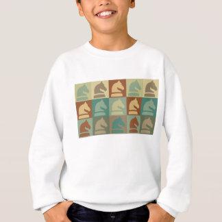 Schach-Pop-Kunst Sweatshirt