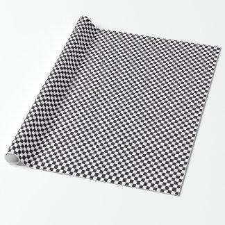 Schach-quadratisches Muster - Schwarzes + Ihr Text Geschenkpapier