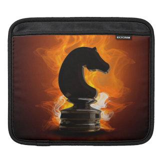 Schach-Ritter in den Flammen Sleeve Für iPads