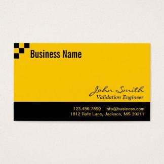 Schachbrett-Bestätigungs-Ingenieur-Visitenkarte Visitenkarten
