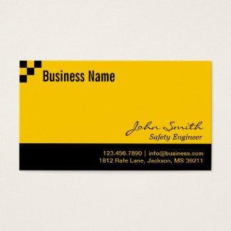 Schachbrett-Sicherheits-Ingenieur-Visitenkarte Visitenkarten