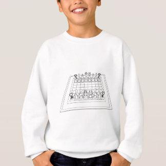 Schachbrett-u. Schach-Stücke: Sweatshirt