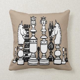 Schachdekorkissen Schwarz-weißes Taupekissen Kissen