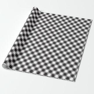 Schachtabelle Schwarz-weiß Geschenkpapier