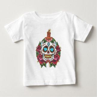 Schädel-Diamant-Kerzen-Rose durch Tyler 2008 Baby T-shirt