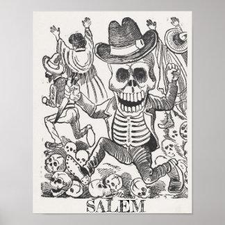 Schädel-geheimnisvolles Plakat Salems