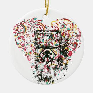 Schädel im Glas, Vintages Herz Rundes Keramik Ornament