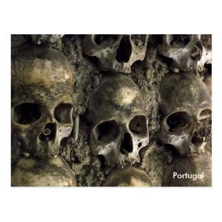 Schädel - Kapelle der Knochen, Evora, Portugal Postkarte