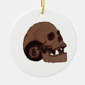 Schädel Keramik Ornament