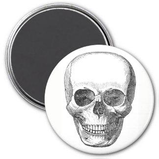 Schädel-Magnet Runder Magnet 7,6 Cm