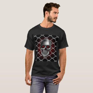 Schädel mit Kettenglied-Zaun T-Shirt