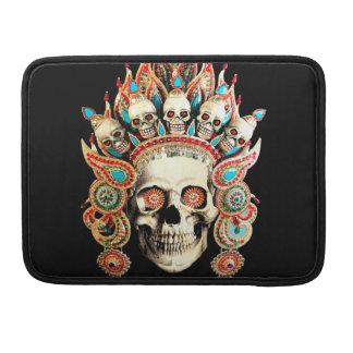 Schädel mit tibetanischem Kopfschmuck Sleeve Für MacBook Pro