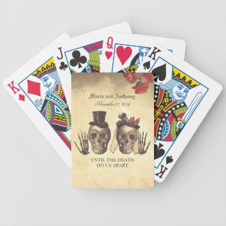 Schädel-Paar-Tag der toten Hochzeit Bicycle Spielkarten