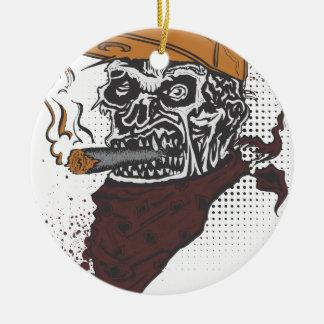 Schädel-Rauchen Keramik Ornament