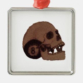 Schädel Silbernes Ornament