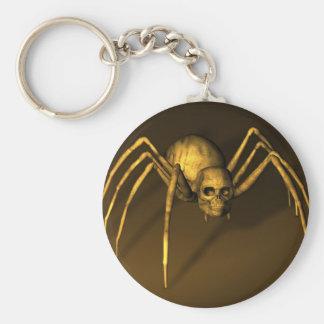 Schädel-Spinne Schlüsselanhänger