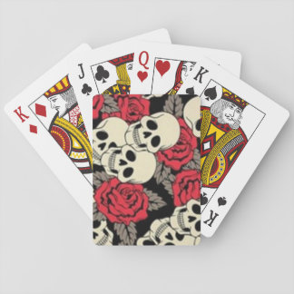 Schädel-u. Rosen-Spielkarten, Pokerdeck