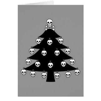 Schädel-Weihnachtsbaum Karte