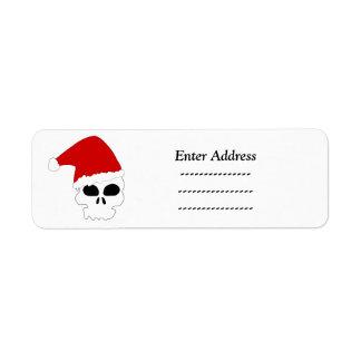 Schädeladressen-Aufkleber Weihnachten
