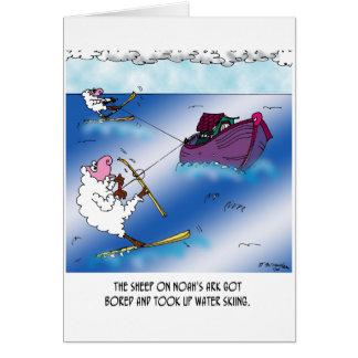 Schafe auf dem Arche-Wasser-Ski Karte