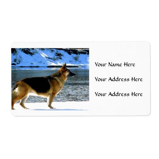 Schäferhund-Adressen-Etiketten Versandetiketten