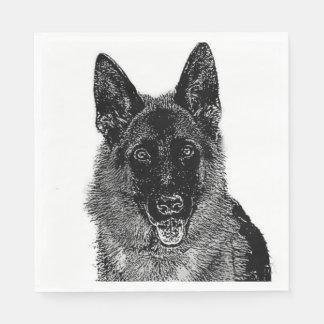 Schäferhund-Hund Servietten