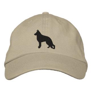 Schäferhund-HundeSilhouette Bestickte Baseballkappe