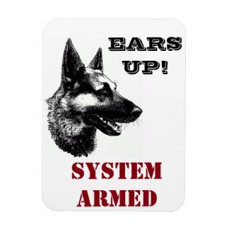 Schäferhund-Rettung zentraler Tx lustiger Magnet