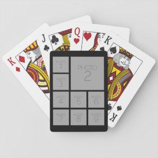 Schaffen Sie eine kundenspezifische Foto-Collage Pokerkarten