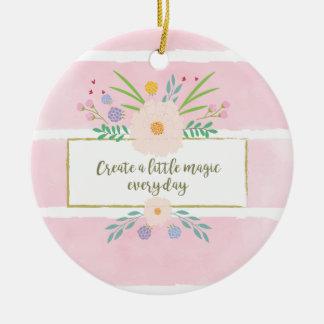 Schaffen Sie eine wenig Magie! Rundes Keramik Ornament