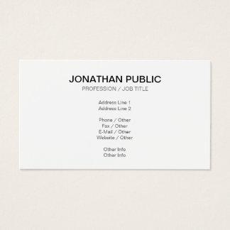 Schaffen Sie Ihr eigenes nobles einfaches modernes Visitenkarte