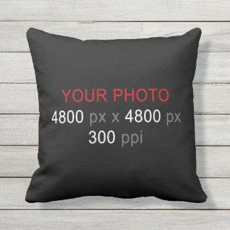 Schaffen Sie Ihre eigene 2 Foto-Gewohnheit 16 Zoll Kissen