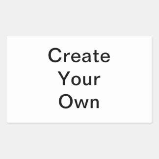 Schaffen Sie Ihren eigenen Rechteck-Aufkleber Rechteckiger Aufkleber