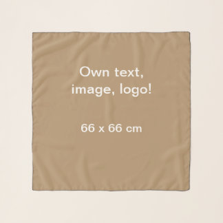 Schal-Chiffon- Quadrat-uni Gold Schal