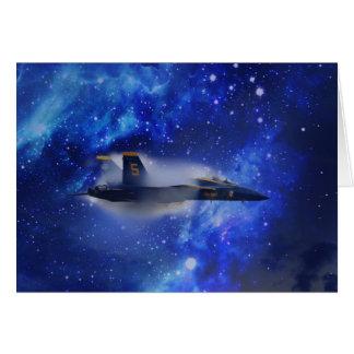 Schallmauer-Flugzeug Grußkarte