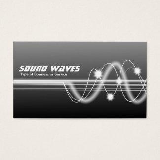 Schallwellen - Grau schattiert Visitenkarte