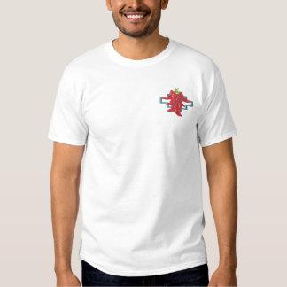 Schalter-Chili-Paprikaschoten Besticktes T-Shirt