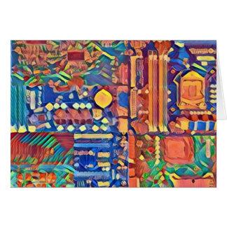 Schaltkreis-Tapisserie - gerade eine kleine Karte