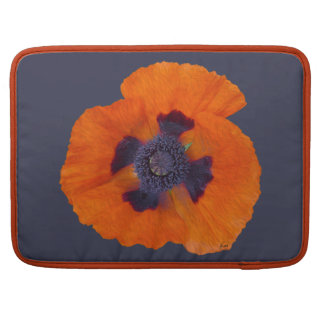 Scharlachrot der orange Mohnblumen-1 Sleeves Für MacBook Pro