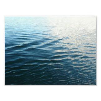 Schatten blaues Wasser-der abstrakten Fotodruck