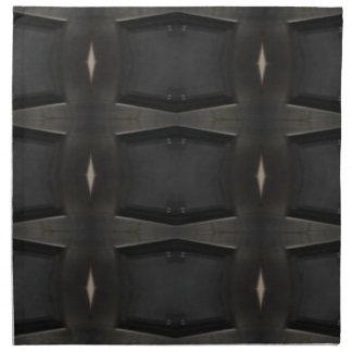 Schatten des grauen klassischen Holzkohlen-Musters Serviette