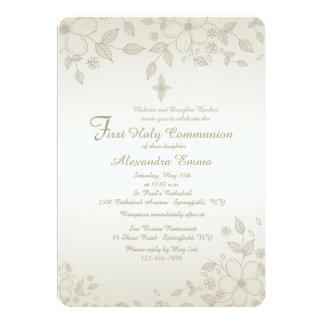 Schattierte Blumeneinladung 12,7 X 17,8 Cm Einladungskarte