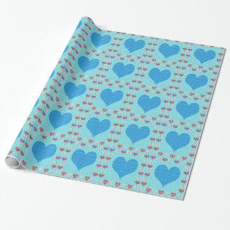 Schatz-Blau Geschenkpapier