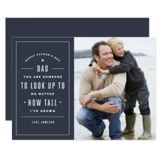 Schauen Sie oben zur Vatertags-der Karte 12,7 X 17,8 Cm Einladungskarte